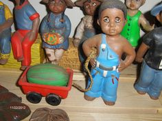 SOLD OUT: $20 Watermelon kid: Check out these ceramics and more at http://adasstudent.weebly.com/african-american.html