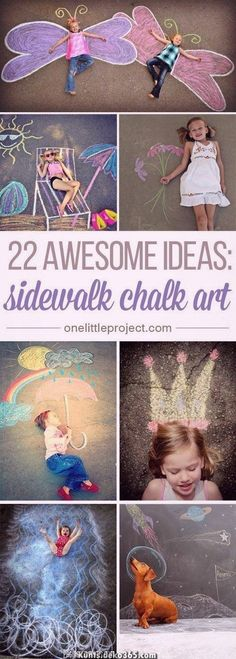These sidewalk chalk ideas are SO AWESOME! Seriously, some people so creative! … These sidewalk chalk ideas are SO AWESOME! Seriously, some people so creative! There are so many fun ideas and so many great photo opportunities! So Creative, Creative Crafts, Crafts For Kids, Arts And Crafts, Paper Crafts, Chalk Crafts, Neon Crafts, Beach Crafts, Summer Crafts
