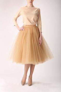 Tulle skirt, long petticoat, high quality tutu skirts, tulle tutu. €120.00, via Etsy.