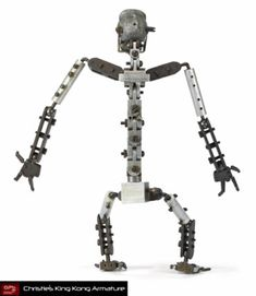 King Kong (1933) Back view of King Kong armature.