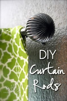DIY Curtain Rod for Under 5 dollars by Redfly Creations