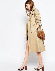 ASOS | ASOS Midi Trench With Retro Styling at ASOS