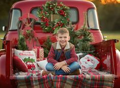 Vintage Photography — Young Boy Sitting in Pearland, TX Christmas Truck, Christmas Tree Farm, Christmas Minis, Outdoor Christmas, Holiday Mini Session, Christmas Mini Sessions, Family Christmas Pictures, Holiday Pictures, Family Picture Poses