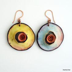 Polymer clay earrings   AnarinaAnar