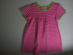 Hanna Andersson Girls Size 120 Pink Striped Play Dress Everyday 100% Cotton