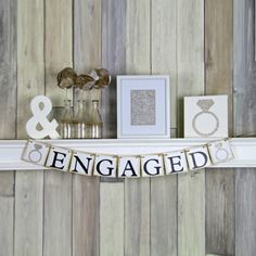 Engaged Banner, Engagement Banner, Engagement Party Decor See more here: https://www.etsy.com/listing/104932230/engaged-banner-engagment-banner?ref=shop_home_active_1&ga_search_query=engaged