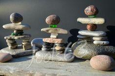 Rock inukshuks, inukshuk art, stone art, rock art, beachglass art, seaglass art, etsy, BeachMemoriesByJools , etsy.com, Sea Glass Crafts, Sea Glass Art, Rock Sculpture, Rock Collection, Stone Crafts, Cork Crafts, Beach Crafts, Driftwood Art, Land Art