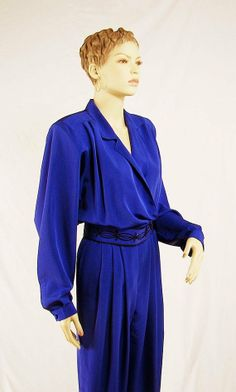 Vintage 1980s Jumpsuit in Periwinkle Blue (OMG I used to wear this in the 80s)