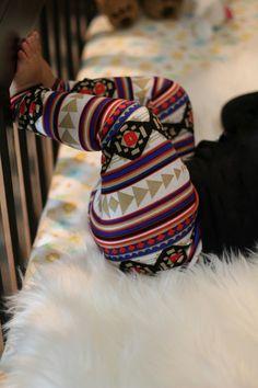 Colorful Aztec Print Leggings for Toddlers