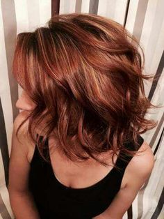 . I love the color and cut of this hairstyle.