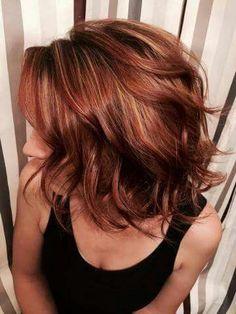 Auburn hair color is a variation of red hair most often described as a reddish- . - Auburn hair color is a variation of red hair most often described as a reddish- … # - Hair Color Auburn, Hair Color Highlights, Auburn Highlights, Auburn Ombre, Red Ombre, Auburn Balayage, Short Auburn Hair, Caramel Highlights, Blonde Ombre