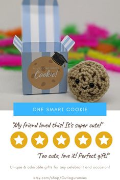They had to have been one smart cookie to make it this far! So let your loved grad feel that way by giving them this cute and unique care package!