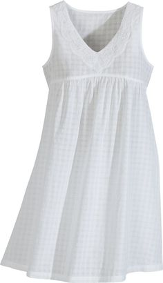 Cotton Vintage style Chemise at Vermont Country Store Cotton Nighties, Cotton Sleepwear, Flirty Pajamas, Barbie Wardrobe, Nightgowns For Women, Mode Hijab, One Piece Dress, Sweet Dress, Clothing Patterns