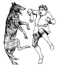 dancing wolf gravure