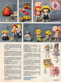 Strawberry Shortcake Dolls from the J.C. Penney Christmas Catalog, 1980