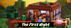 The First Night Minecraft Lego Set - Perfect set for a Minecraft or Lego lover.