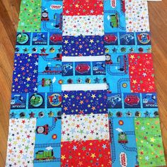 "@nelysongbird's photo: ""The Thomas quilt is almost done!  #thomasthechoochoo #quilt #quilting #fabric #sew #sewing #boy #thomasandfriends"""