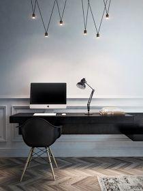 The Design Chaser: Interior Styling | Black, White + Wood