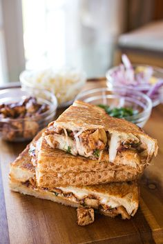 """BBQ Chicken """"Pizza"""" Grilled Cheese / by The Cozy Apron"""