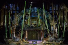 Two heroes of the Oregon Shakespeare Festival this summer are scenic designer Michael Ganio and projection designer Alexander Nichols, who manage with a