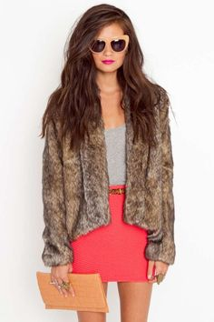 Braden Faux Fur Coat :: why oh why do you have to be out of stock??