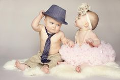 Love a fedora as a baby boy prop.