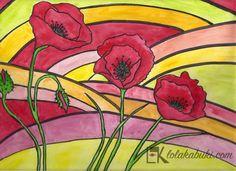 AMAPOLAS Lola Kabuki  #love #art #watercolor #paintings #illustration