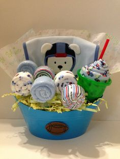how to make baby boy gift baskets