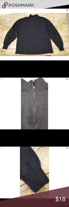"""Pronto Uomo Extra Fine Merino Wool Sweater Pronto Uomo Extra Fine Merino Wool Half Zip Sweater. 100% Extra Fine Merino Wool . Men's Size XL. Chest Measurements 23"""". Pronto Uomo Sweaters"""