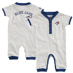 Newborn Toronto Blue Jays Majestic White Outfield Jumper
