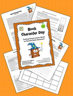FREE Book Character Day Activities - Great alternative to the traditional Halloween party!