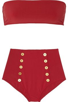 Yves Saint Laurent High-Waisted Bandeau Bikini