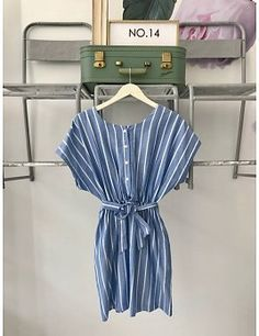 Reversible Blue & White Striped Dress Striped Dress, Pittsburgh, What To Wear, Blue And White, Rompers, Boutique, Summer Dresses, Clothes, Fashion