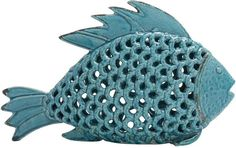 """Bayden Hill Ceramic Fish 17""""W, 10""""H"""