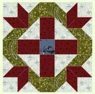 David and Goliath Bible quilt block