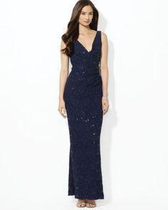 Lauren Ralph Lauren Sequin Lace Gown  Bloomingdale's