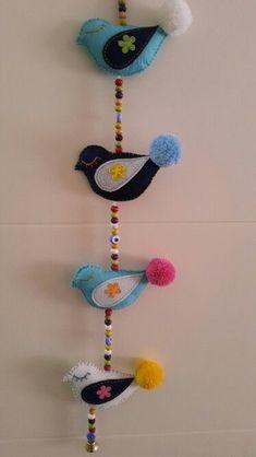Cd Crafts, Foam Crafts, Diy Craft Projects, Sewing Crafts, Diy And Crafts, Sewing Projects, Paper Crafts, Gingerbread Christmas Decor, Bird Christmas Ornaments