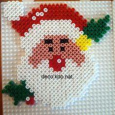 Christmas Santa hama perler beads by deco. Hama Beads Design, Hama Beads Patterns, Beading Patterns, Melty Bead Designs, Christmas Perler Beads, Motifs Perler, Peler Beads, Iron Beads, Melting Beads