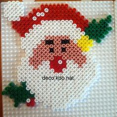 Christmas Santa hama perler beads by deco.kdo.nat