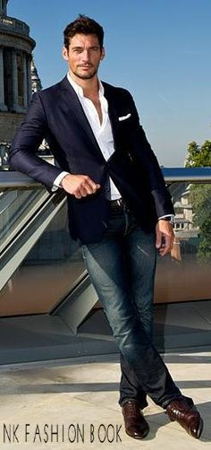 68dbabd4f3 Blazer and jeans Outfit For Men s Blazer With Jeans