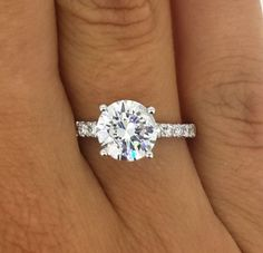 2.25 CT ROUND CUT F/SI1 DIAMOND SOLITAIRE ENGAGEMENT RING 18K WHITE GOLD in Jewelry & Watches, Engagement & Wedding, Engagement Rings | eBay