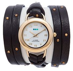 La Mer Collections Women's LMSATURN1570 Black-Gold Stud Saturn Wrap Watch La Mer Collections http://www.amazon.com/dp/B016E5VE6I/ref=cm_sw_r_pi_dp_Oypjwb1P4TX2T
