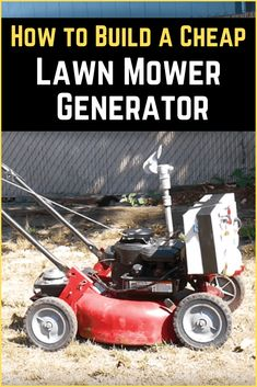 Cheap Lawn Mowers 299278337741293997 - DIY generator made from an old lawn mower. Perfect for powering lights and small devices. Source by kwnhq Disaster Preparedness, Survival Prepping, Survival Gear, Survival Skills, Diy Generator, Homemade Generator, Portable Generator, Battery Generator, Emergency Generator