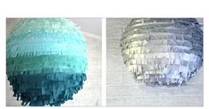 Use beach balls or balloons cover with silver garland