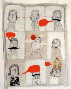 great textile collage by Mummysam