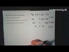 Løsning af simple ligninger fra Iundervisning