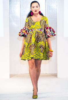 Kiki Clothing At Africa Fashion Week London 2012 Photos by Simon Klyne African Fashion Designers, African Dresses For Women, African Print Fashion, Africa Fashion, African Wear, African Attire, African Fashion Dresses, African Prints, African Women