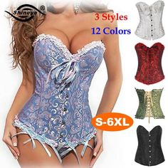 Shineye Sexy Corset Latex Waist Training Corsets Shapewear Bustier Gothic Steampunk Corselet Cincher Espartilho LaceUp Plus Size - Hespirides Gifts - 1