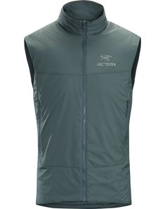 Superlight Coreloft™ insulated vest for mid to high output activities. Salomon Shoes, Field Jacket, M Color, Hooded Sweater, Blue Shoes, Tops, Clothes, Shopping, Side Panels