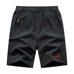 Donhobo Men's Outdoor Quick Dry Lightweight Sports Shorts Zipper Pockets (Grey,XL). For product & price info go to:  https://all4hiking.com/products/donhobo-mens-outdoor-quick-dry-lightweight-sports-shorts-zipper-pockets-greyxl/